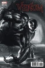 Venom (2017-2018) #1 Variant M: Frankie's Comics/Sad Lemon Comics/Superheroes Exclusive Variant Black & White Cover