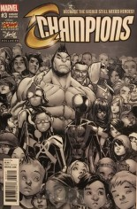 Champions (2016) #3 Variant G: Stan Lee Box Exclusive Black & White Variant Edition