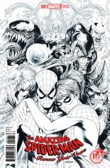 Amazing Spider-Man: Renew Your Vows (2017-2018) #1 Variant M: KRS Exclusive Black and White Variant Cover Limited to 1500.