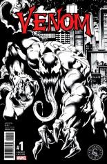 Venom (2017-2018) #1 Variant P: Scorpion Comics Exclusive B&W Variant Cover