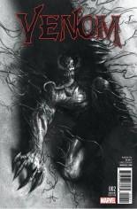 Venom (2017-2018) #2 Variant D: Frankie's Comics/Sad Lemon Comics/Superheroes Exclusive B&W Variant Cover