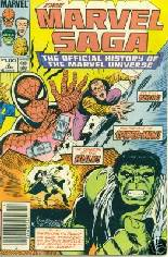 Marvel Saga (1985-1987) #2 Variant A: Wraparound Cover; Newsstand Edition