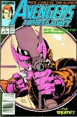 Avengers Spotlight (1989-1991) #25 Variant A: Newsstand Edition