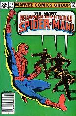 Spectacular Spider-Man (1976-1998) #59 Variant A: Newsstand Edition
