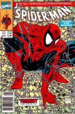 Spider-Man (1990-1998) #1 Variant A: Newsstand Edition; Green Cover; Not Polybagged