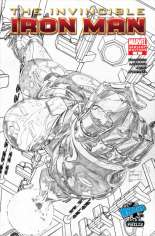 Invincible Iron Man (2008-2012) #1 Variant H: Wizard World Philadelphia Exclusive Sketch Cover