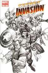 Secret Invasion (2008-2009) #8 Variant C: 1:50 Sketch Variant