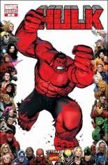 Hulk (2008-2012) #13 Variant C: 70th Anniversary Frame Variant; Hulk stories continued in Incredible Hulk #600.  Red Hulk stories continued in next issue.
