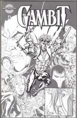 Gambit (1999-2001) #1 Variant I: Authentix Printed Sketch Variant; Signed and Remarked by Steve Skroce; Limited to 700 Copies