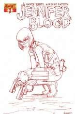 Jennifer Blood (2011-2014) #1 Variant F: 1:15 Blood Red Sketch Cover