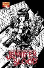 Jennifer Blood (2011-2014) #1 Variant H: 1:50 Sketch Cover
