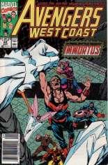 Avengers West Coast (1989-1994) #62 Variant A: Newsstand Edition