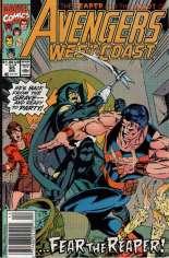 Avengers West Coast (1989-1994) #65 Variant A: Newsstand Edition