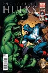 Incredible Hulks (2010-2011) #624 Variant B: Captain America 70th Anniversary Cover