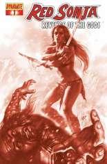 Red Sonja: Revenge of the Gods #1 Variant B: Blood Red Cover