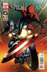 Amazing Spider-Man (1999-2014) #656 Variant B: Captain America 70th Anniversary Cover