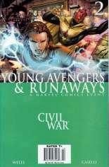 Civil War: Young Avengers & Runaways #2 Variant A: Newsstand Edition