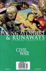 Civil War: Young Avengers & Runaways #3 Variant A: Newsstand Edition