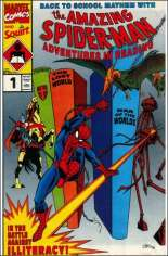 Amazing Spider-Man: Adventures in Reading (1990) #1 Variant C: Squirt Variant; Ivanhoe, The Lost World and War of the Worlds Cover
