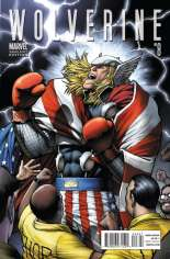 Wolverine (2010-2012) #8 Variant B: Thor Goes Hollywood Cover