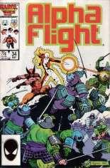 Alpha Flight (1983-1994) #34 Variant B: Direct Edition