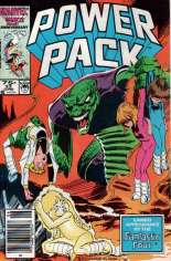 Power Pack (1984-1991) #23 Variant A: Newsstand Edition