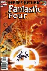 Fantastic Four (1998-2011) #1 Variant D: Sunburst Variant Cover; DF Signed Edition; Signed by Stan Lee; Limited to 4 Copies w/ COA