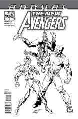 New Avengers (2010-2013) #Annual 1 Variant C: Sketch Cover