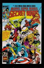 Marvel Super-Heroes Secret Wars (1984-1985) #1 Variant E: Marvel Universe Comic Packs Reprint Packaged w/ Captain America and Klaw