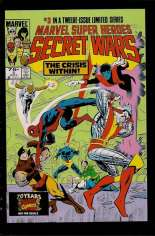 Marvel Super-Heroes Secret Wars (1984-1985) #3 Variant E: Marvel Universe Comic Packs Reprint Packaged w/ Spider-Man and Thunderball