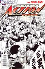 Action Comics (2011-2016) #3 Variant C: 1:200 Sketch Cover