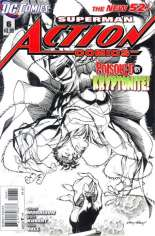 Action Comics (2011-2016) #6 Variant C: 1:200 Sketch Cover
