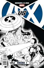 Avengers vs. X-Men (2012) #1 Variant G: Black & White Cover