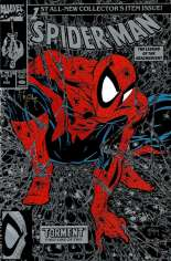 Spider-Man (1990-1998) #1 Variant L: Silver Edition; Stamped on Back by Todd MacFarlane's Comic Shop; Signed by Todd MacFarlane w/ COA
