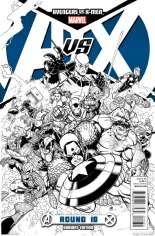 Avengers vs. X-Men (2012) #10 Variant G: 1:200 Sketch Cover