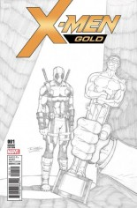 X-Men: Gold (2017-2018) #1 Variant J: Party Sketch Variant