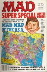 Mad Special (1970-1999) #37: Bonus; Mad Map of the U.S.A.
