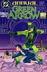 Green Arrow (1988-1998) #Annual 1: Cover interlocks with Detective Annual #1 and Question Annual #1 to form one picture