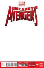 Uncanny Avengers (2012-2014) #1 Variant B: Blank Cover