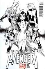 Uncanny Avengers (2012-2014) #1 Variant L: 1:200 Sketch Cover