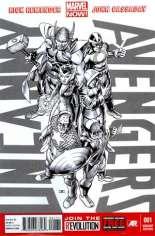 Uncanny Avengers (2012-2014) #1 Variant G: 1:300 Sketch Cover
