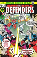 Defenders (1972-1986) #8 Variant B: Marvel Universe Greatest Battles Comic Pack Reprint Packaged w/ Silver Surfer and Doctor Strange