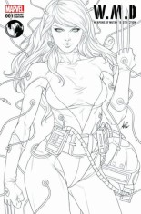 W.M.D. Weapons Of Mutant Destruction #1 Variant E: Unknown Comics Exclusive Variant Line Art Cover