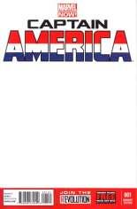 Captain America (2012-2014) #1 Variant B: Blank Cover
