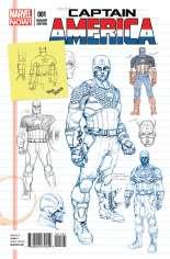 Captain America (2012-2014) #1 Variant D: 1:25 Design Cover