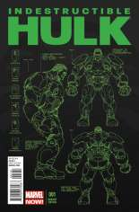 Indestructible Hulk (2013-Present) #1 Variant C: 1:25 Design Cover