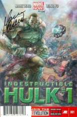 Indestructible Hulk (2013-Present) #1 Variant G: DF Signed Edition; Signed by Mark Waid