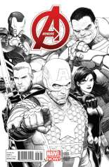 Avengers (2012-2015) #1 Variant F: 1:150 Sketch Cover
