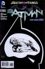 Batman (2011-2016) #15 Variant D: 1:100 Sketch Cover