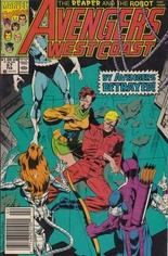 Avengers West Coast (1989-1994) #67 Variant A: Newsstand Edition